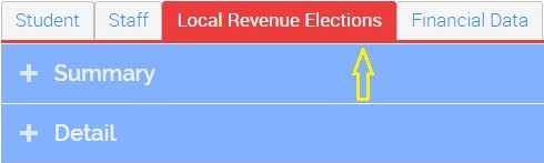 image showing the tab for local revenue elections